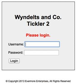 Wyndelts & Co. Tickler 2 Login